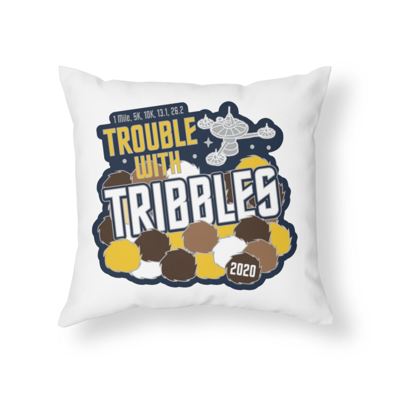 Trouble with Tribbles Home Throw Pillow by Moon Joggers's Artist Shop