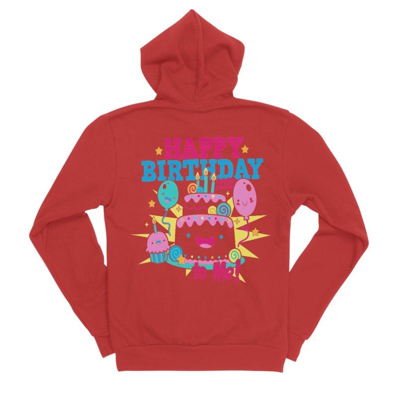 Happy Birthday to Me Women's Sponge Fleece Zip-Up Hoody by Moon Joggers's Artist Shop