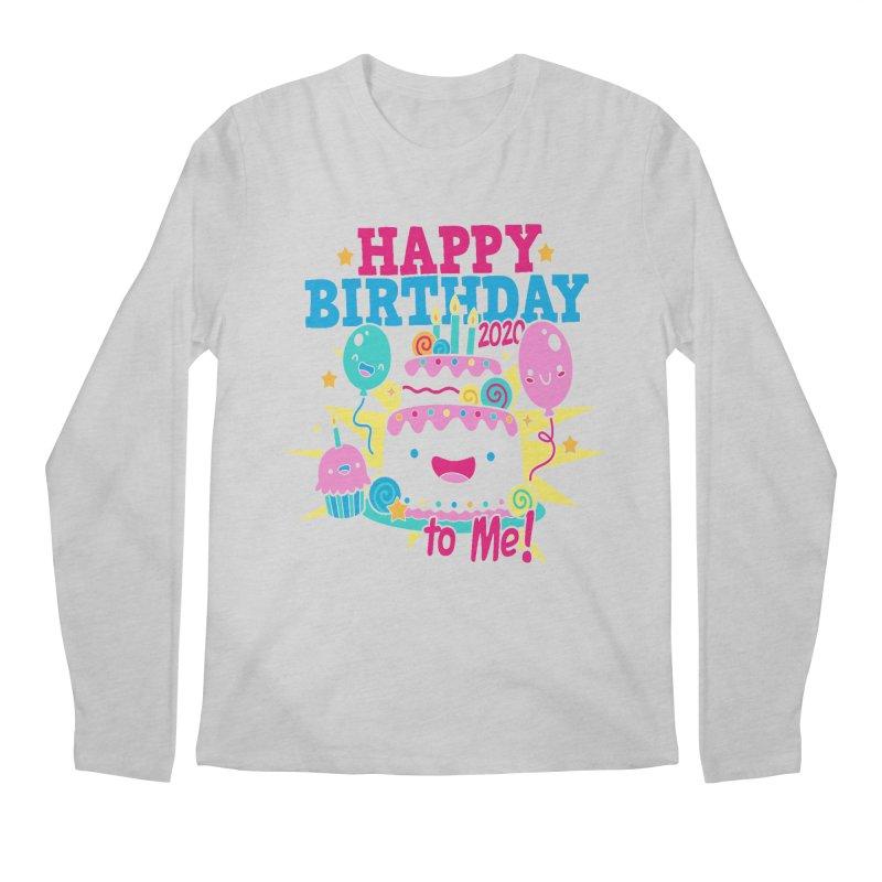 Happy Birthday to Me Men's Regular Longsleeve T-Shirt by Moon Joggers's Artist Shop