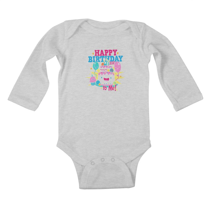 Happy Birthday to Me Kids Baby Longsleeve Bodysuit by Moon Joggers's Artist Shop