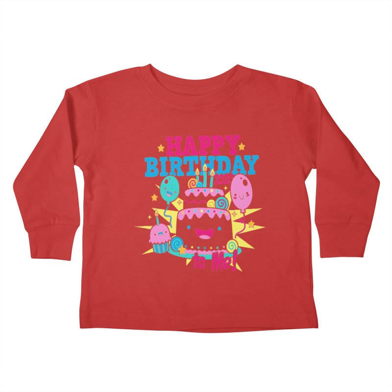Happy Birthday to Me Kids Toddler Longsleeve T-Shirt by Moon Joggers's Artist Shop