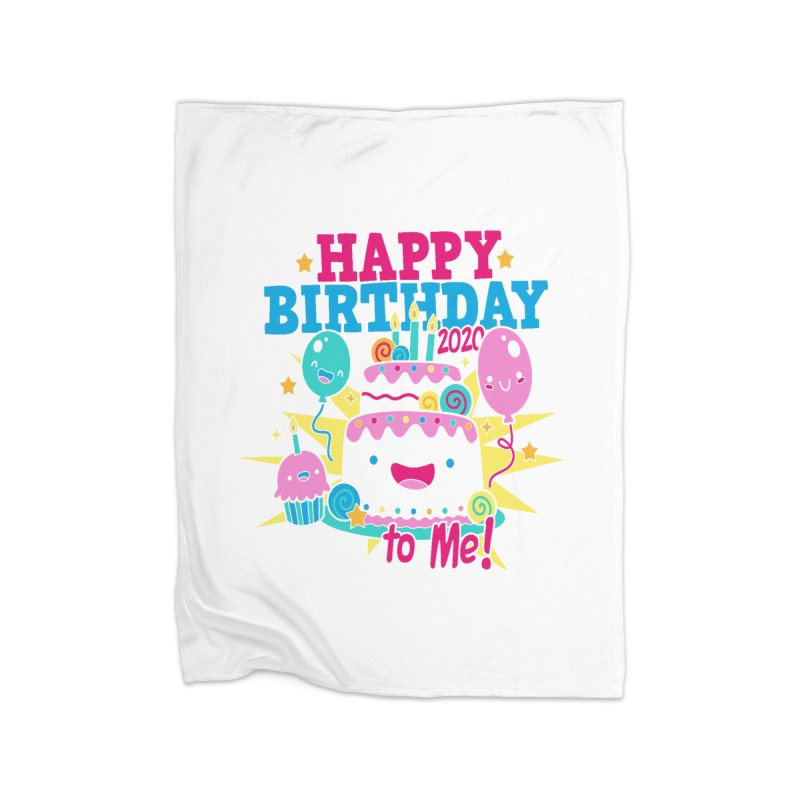 Happy Birthday to Me Home Fleece Blanket Blanket by Moon Joggers's Artist Shop