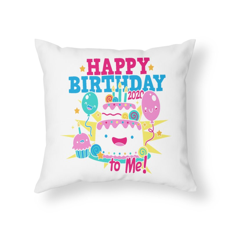 Happy Birthday to Me Home Throw Pillow by Moon Joggers's Artist Shop