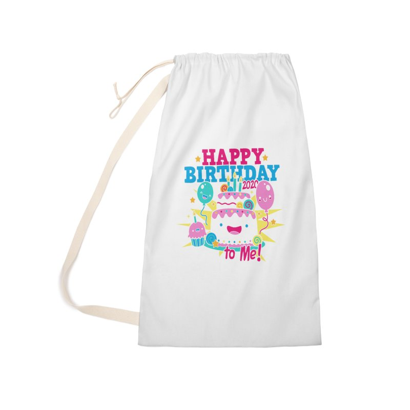 Happy Birthday to Me Accessories Laundry Bag Bag by Moon Joggers's Artist Shop