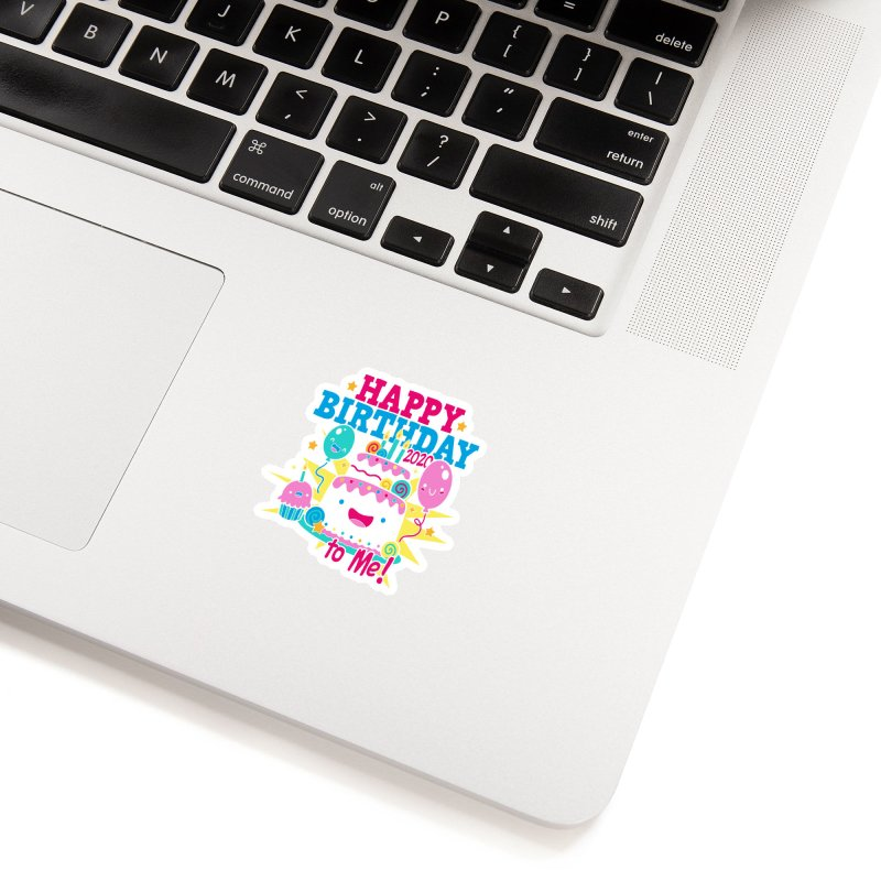 Happy Birthday to Me Accessories Sticker by Moon Joggers's Artist Shop