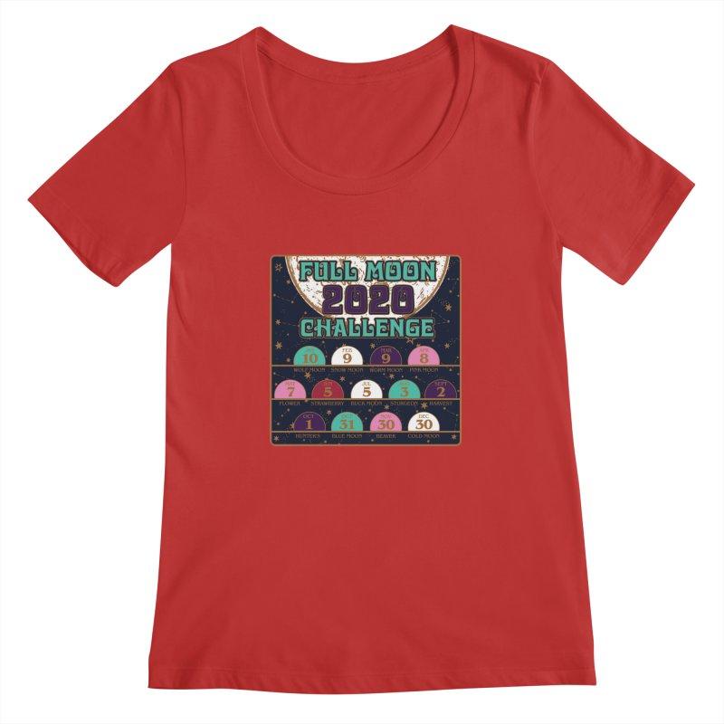 Full Moon Challenge 2020 Women's Regular Scoop Neck by Moon Joggers's Artist Shop