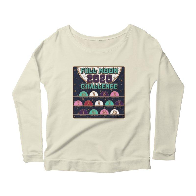 Full Moon Challenge 2020 Women's Scoop Neck Longsleeve T-Shirt by Moon Joggers's Artist Shop