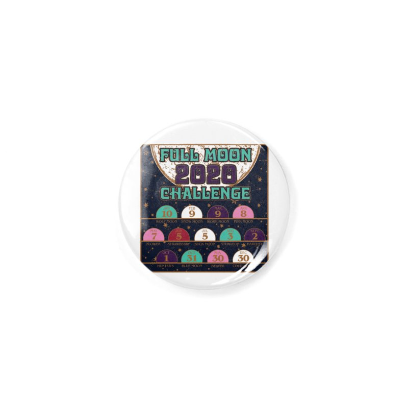Full Moon Challenge 2020 Accessories Button by Moon Joggers's Artist Shop