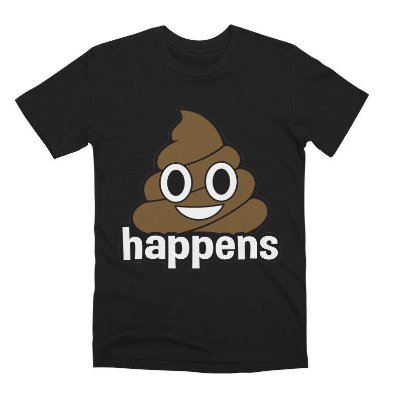 Poop Happens Men's Premium T-Shirt by Moon Joggers's Artist Shop