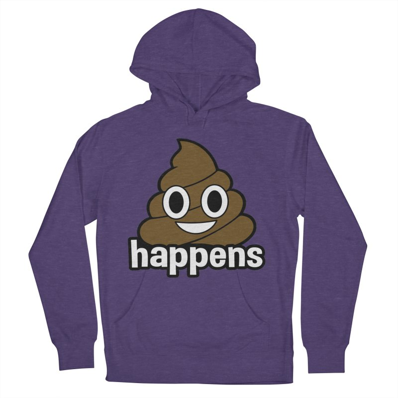 Poop Happens Men's French Terry Pullover Hoody by Moon Joggers's Artist Shop