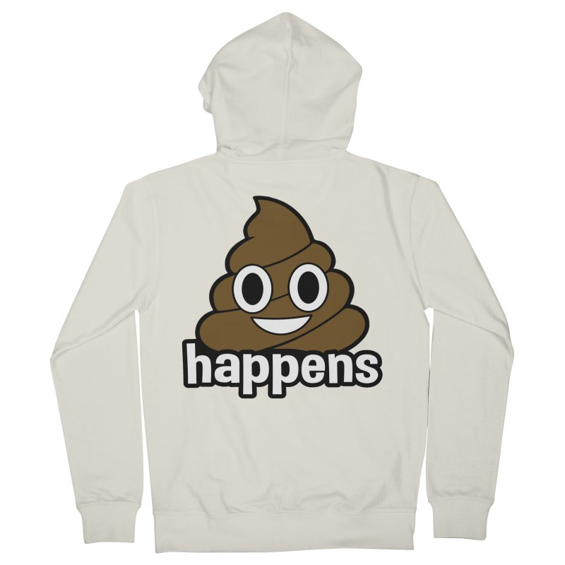 Poop Happens Men's French Terry Zip-Up Hoody by Moon Joggers's Artist Shop