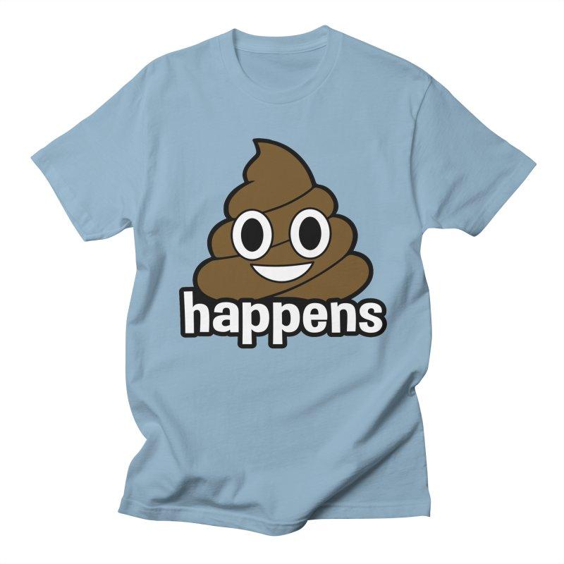 Poop Happens Men's Regular T-Shirt by Moon Joggers's Artist Shop