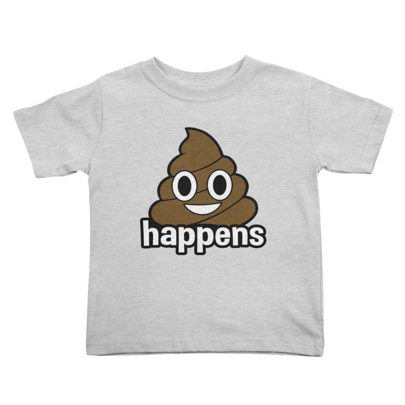 Poop Happens Kids Toddler T-Shirt by Moon Joggers's Artist Shop