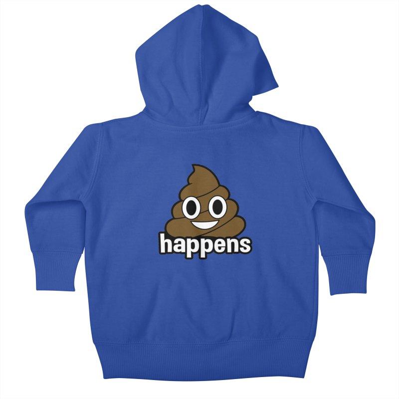 Poop Happens Kids Baby Zip-Up Hoody by Moon Joggers's Artist Shop