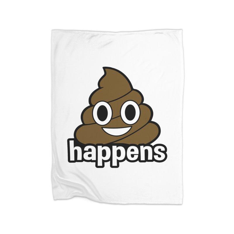 Poop Happens Home Fleece Blanket Blanket by Moon Joggers's Artist Shop