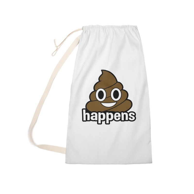 Poop Happens Accessories Laundry Bag Bag by Moon Joggers's Artist Shop