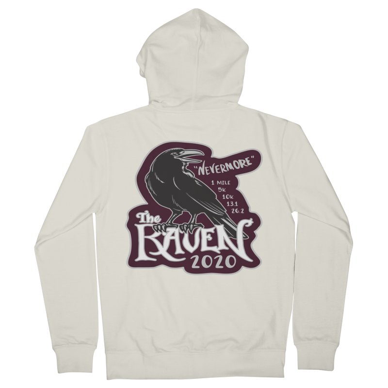 The Raven Men's French Terry Zip-Up Hoody by Moon Joggers's Artist Shop