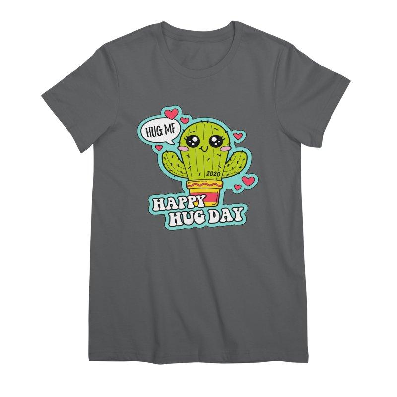 Happy Hug Day Women's Premium T-Shirt by Moon Joggers's Artist Shop