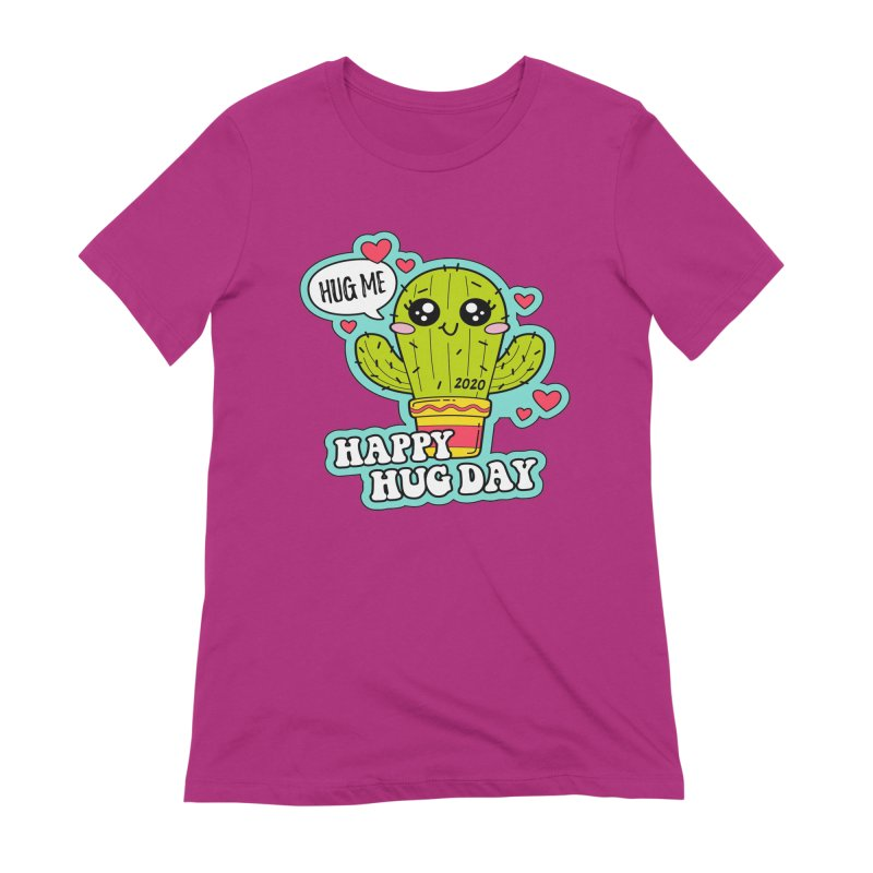 Happy Hug Day Women's Extra Soft T-Shirt by Moon Joggers's Artist Shop