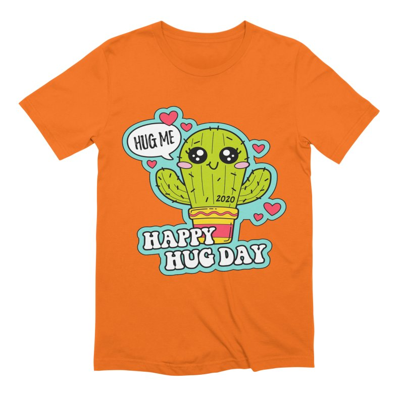 Happy Hug Day Men's Extra Soft T-Shirt by Moon Joggers's Artist Shop