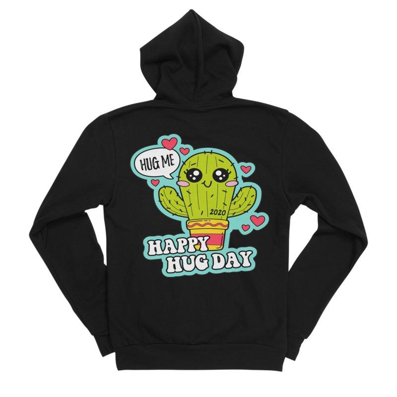 Happy Hug Day Women's Sponge Fleece Zip-Up Hoody by Moon Joggers's Artist Shop