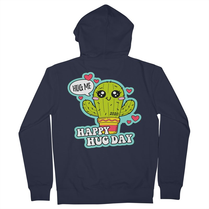 Happy Hug Day Men's French Terry Zip-Up Hoody by Moon Joggers's Artist Shop