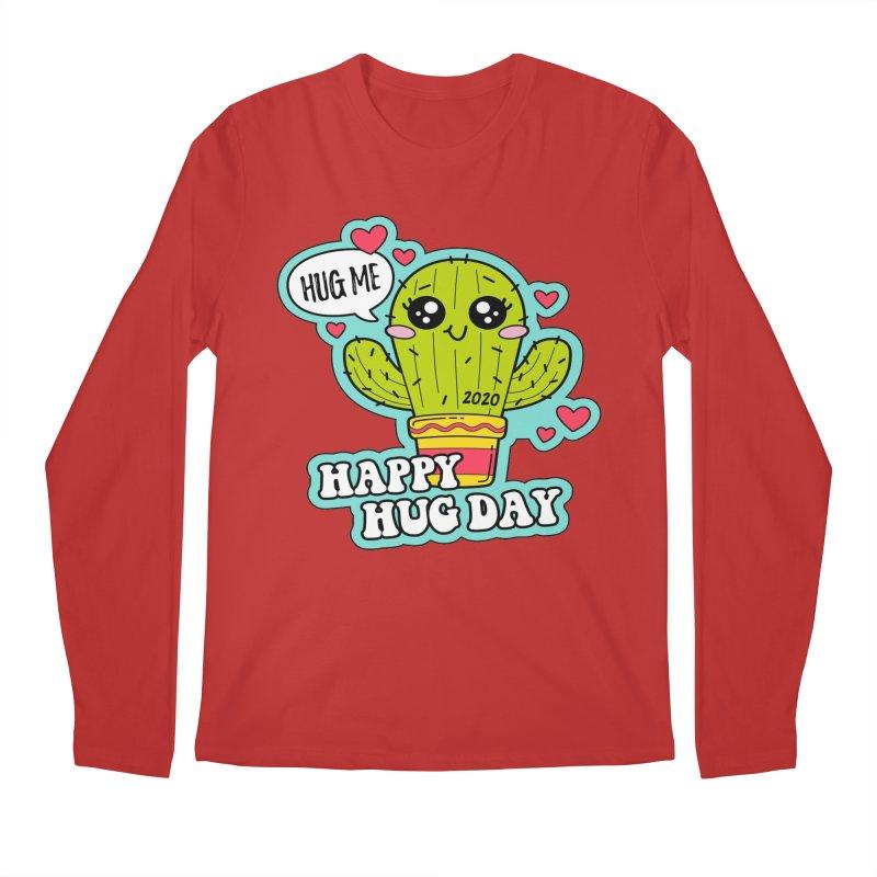 Happy Hug Day Men's Regular Longsleeve T-Shirt by Moon Joggers's Artist Shop
