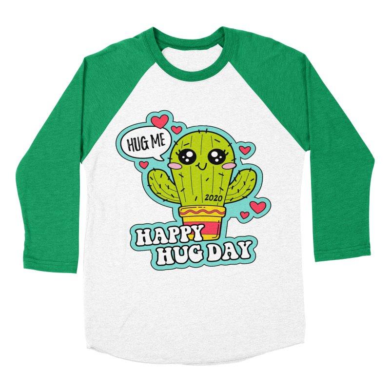 Happy Hug Day Women's Baseball Triblend Longsleeve T-Shirt by Moon Joggers's Artist Shop