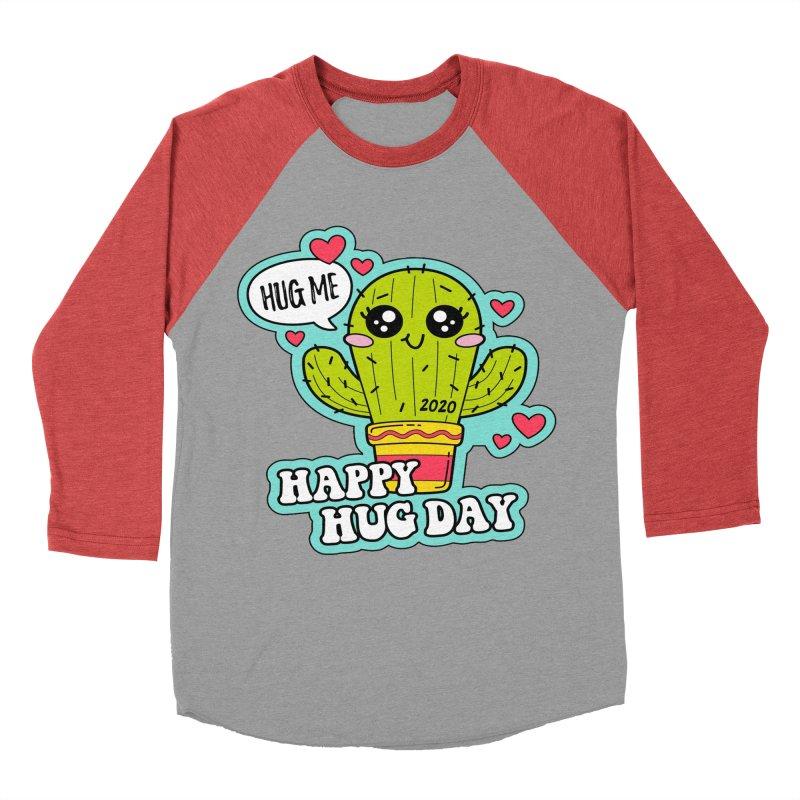 Happy Hug Day Men's Baseball Triblend Longsleeve T-Shirt by Moon Joggers's Artist Shop