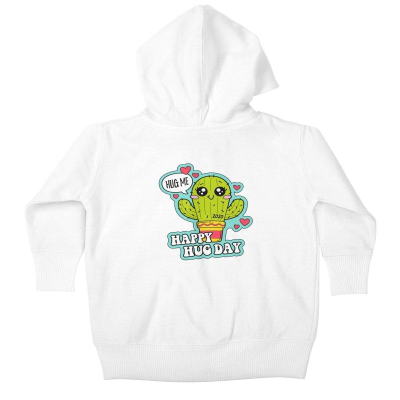 Happy Hug Day Kids Baby Zip-Up Hoody by Moon Joggers's Artist Shop