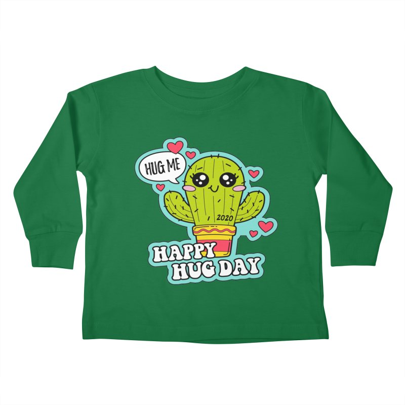Happy Hug Day Kids Toddler Longsleeve T-Shirt by Moon Joggers's Artist Shop
