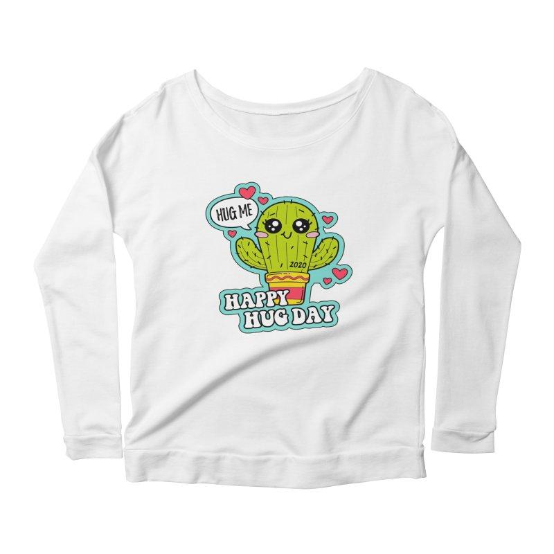 Happy Hug Day Women's Scoop Neck Longsleeve T-Shirt by Moon Joggers's Artist Shop