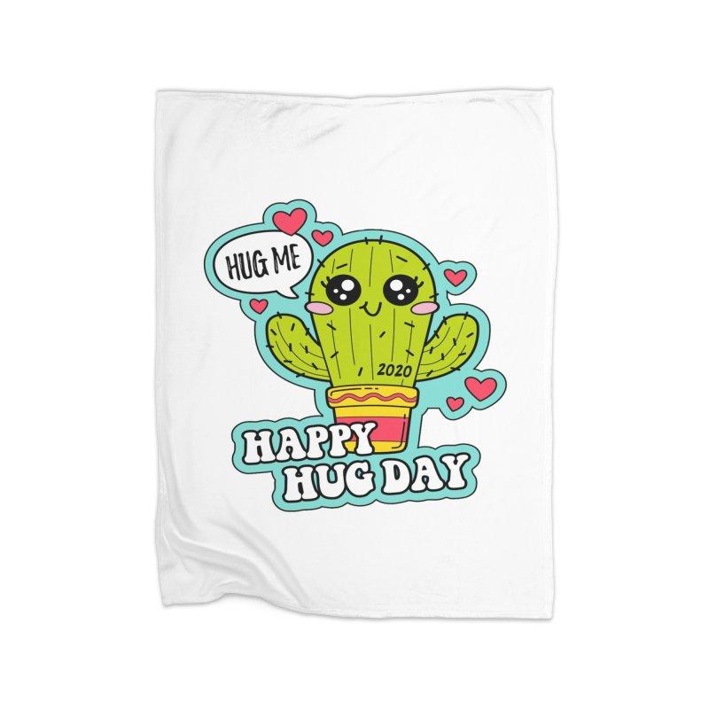 Happy Hug Day Home Fleece Blanket Blanket by Moon Joggers's Artist Shop