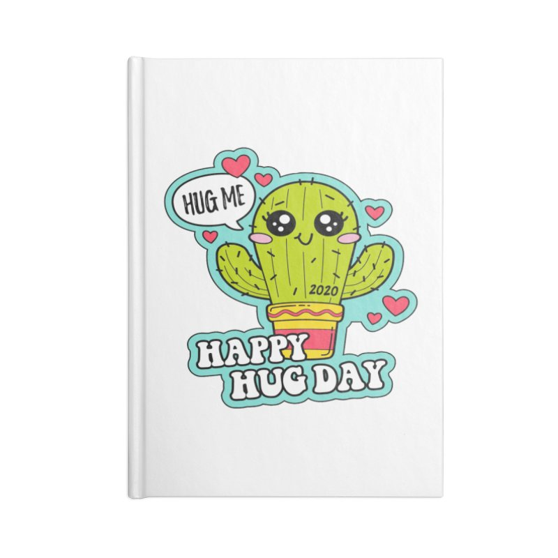 Happy Hug Day Accessories Blank Journal Notebook by Moon Joggers's Artist Shop