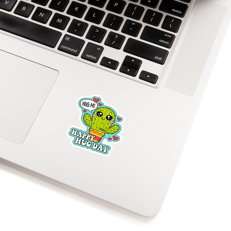 Happy Hug Day Accessories Sticker by Moon Joggers's Artist Shop
