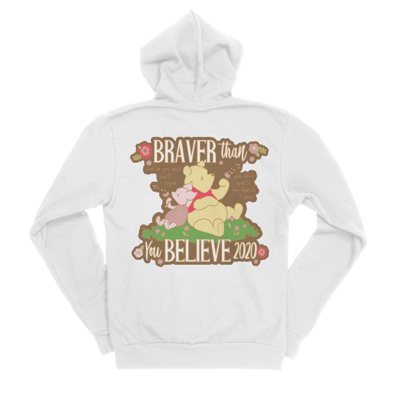 Braver Than You Believe 2020 Women's Sponge Fleece Zip-Up Hoody by Moon Joggers's Artist Shop