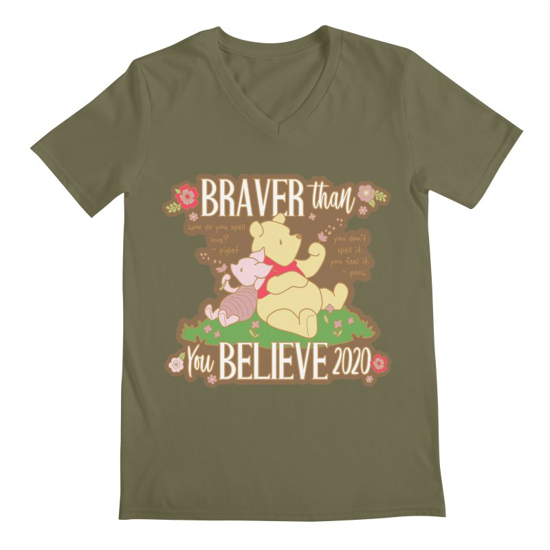 Braver Than You Believe 2020 Men's Regular V-Neck by Moon Joggers's Artist Shop