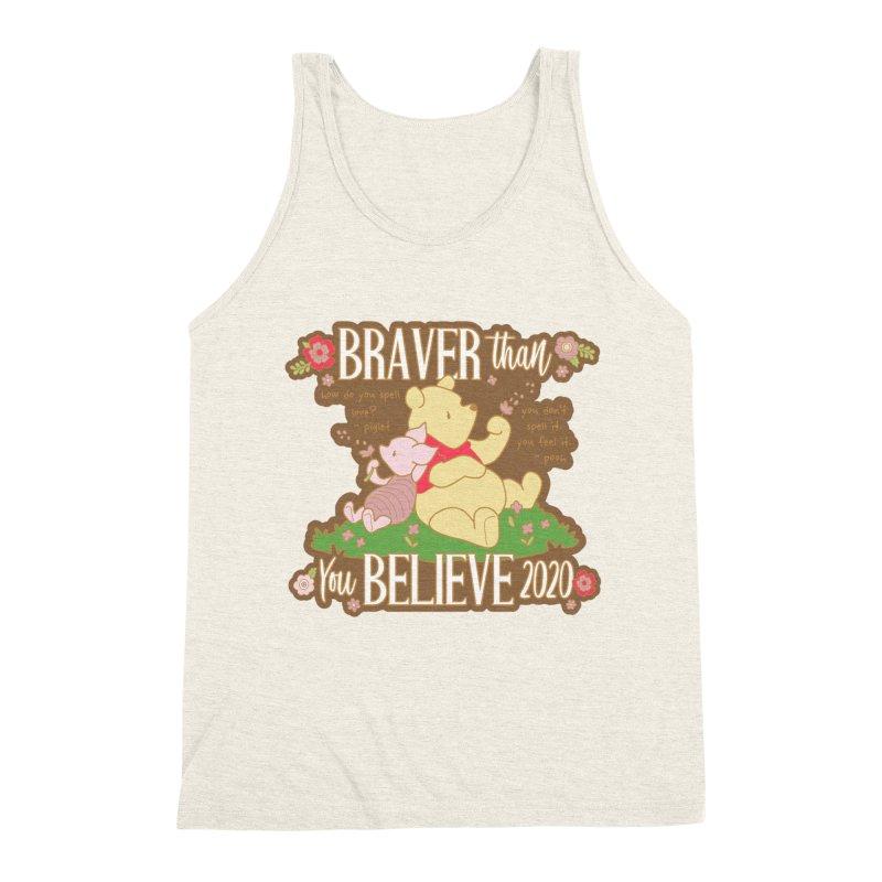 Braver Than You Believe 2020 Men's Triblend Tank by Moon Joggers's Artist Shop