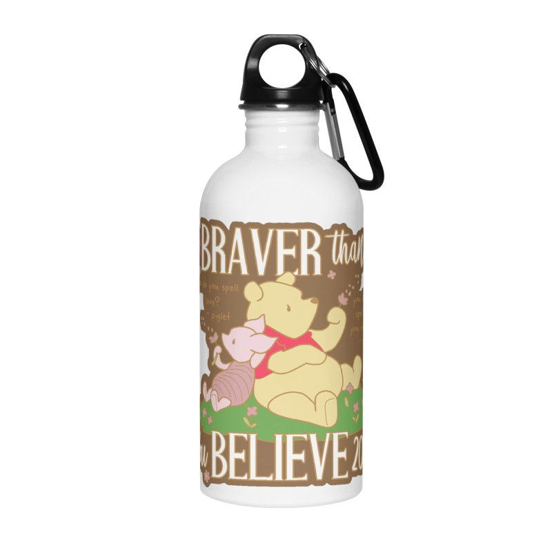 Braver Than You Believe 2020 Accessories Water Bottle by Moon Joggers's Artist Shop