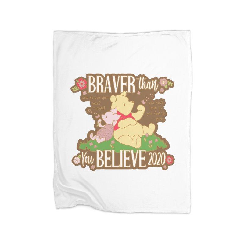 Braver Than You Believe 2020 Home Fleece Blanket Blanket by Moon Joggers's Artist Shop