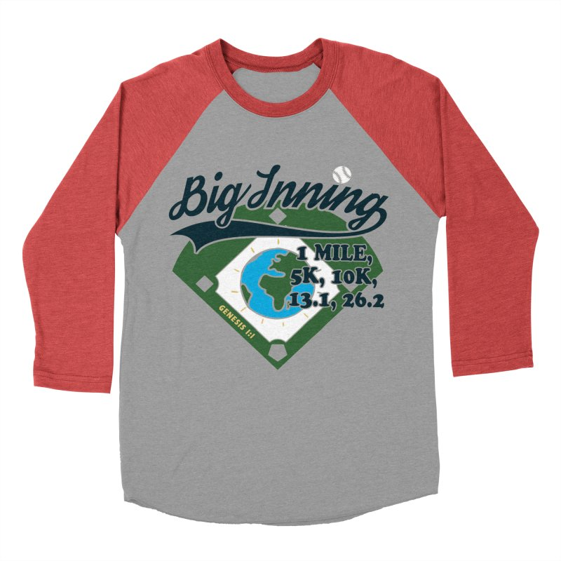 In the Big Inning in Men's Baseball Triblend Longsleeve T-Shirt Chili Red Sleeves by Moon Joggers's Artist Shop