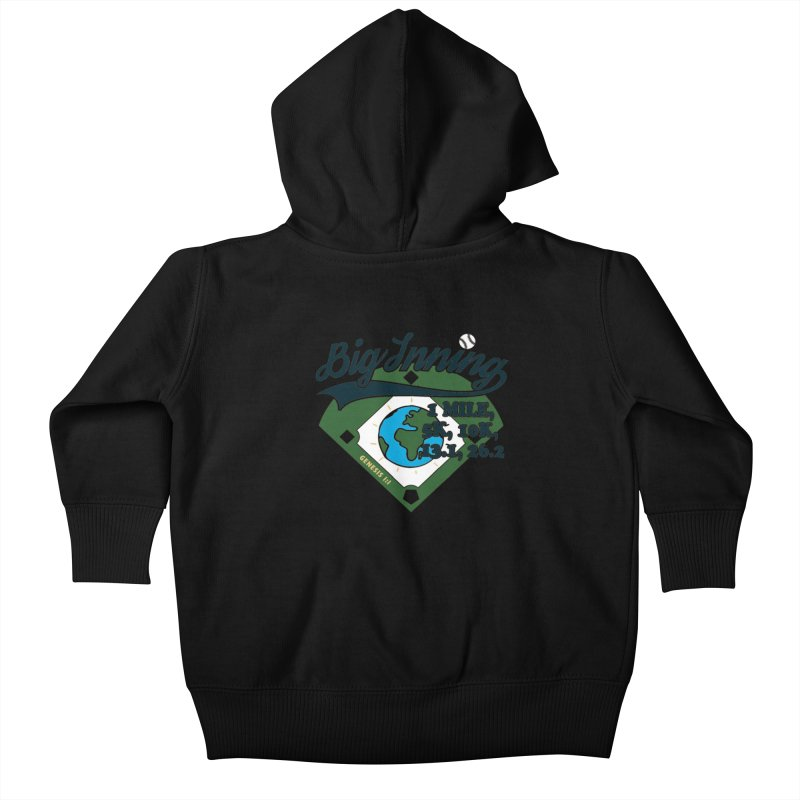 In the Big Inning Kids Baby Zip-Up Hoody by Moon Joggers's Artist Shop