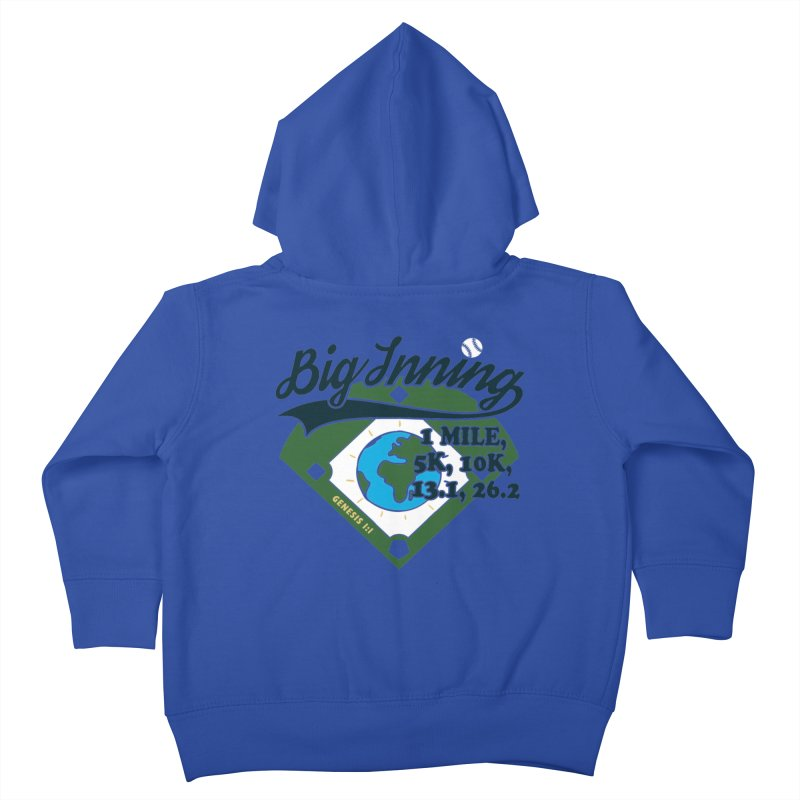 In the Big Inning Kids Toddler Zip-Up Hoody by Moon Joggers's Artist Shop