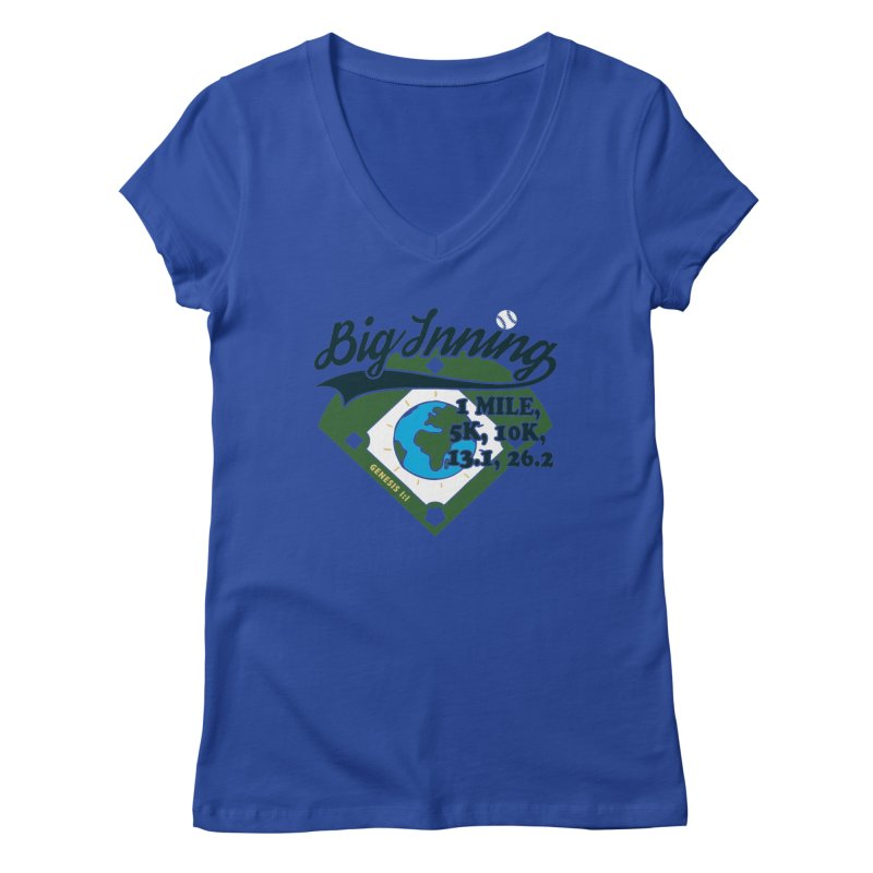 In the Big Inning Women's Regular V-Neck by Moon Joggers's Artist Shop
