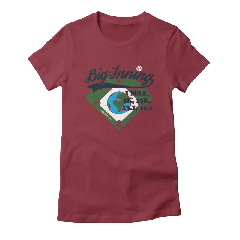 In the Big Inning Women's Fitted T-Shirt by Moon Joggers's Artist Shop