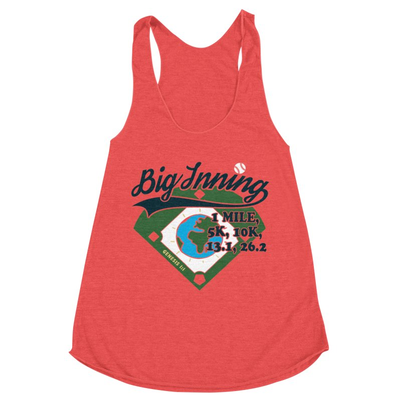 In the Big Inning Women's Racerback Triblend Tank by Moon Joggers's Artist Shop