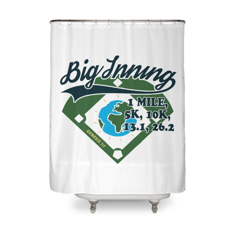 In the Big Inning Home Shower Curtain by Moon Joggers's Artist Shop