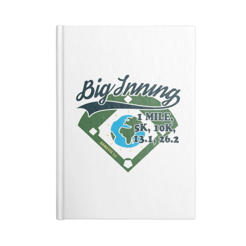 In the Big Inning Accessories Lined Journal Notebook by Moon Joggers's Artist Shop