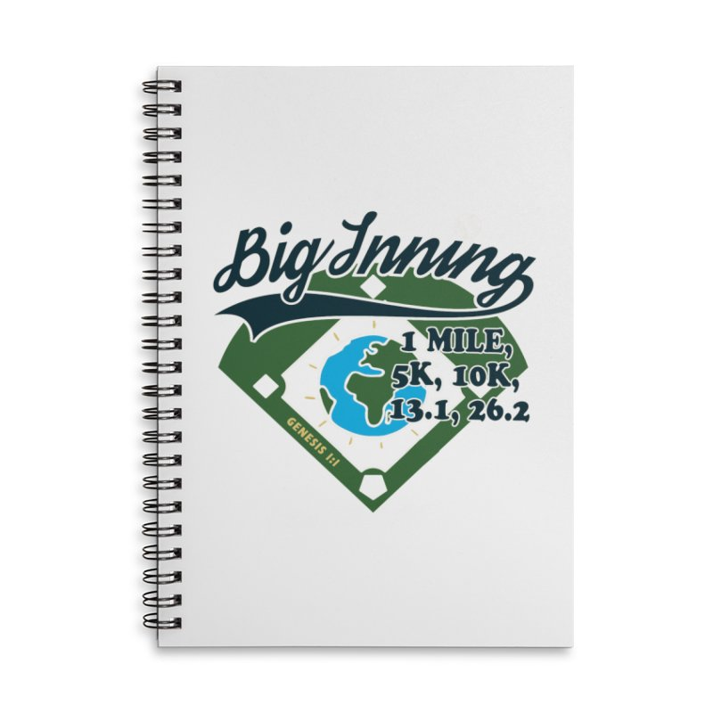 In the Big Inning Accessories Lined Spiral Notebook by Moon Joggers's Artist Shop
