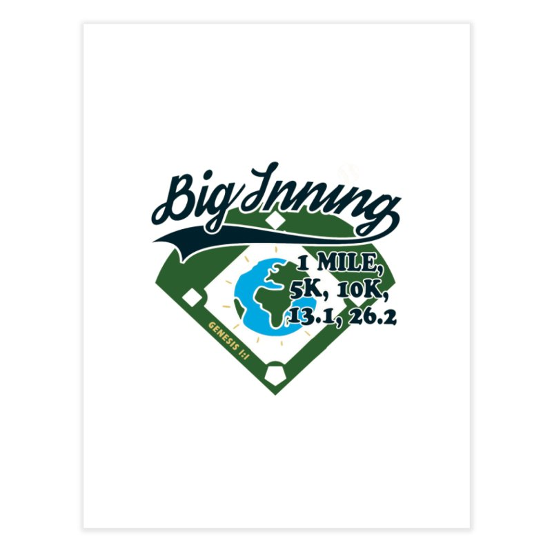 In the Big Inning Home Fine Art Print by Moon Joggers's Artist Shop